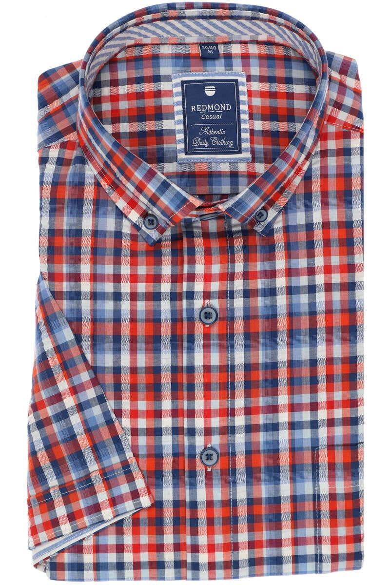 Redmond Regular Fit Hemd rot, Kariert L