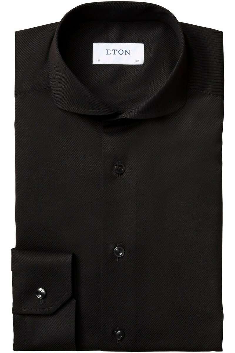 ETON Contemporary Fit Hemd schwarz, Einfarbig 40 - M