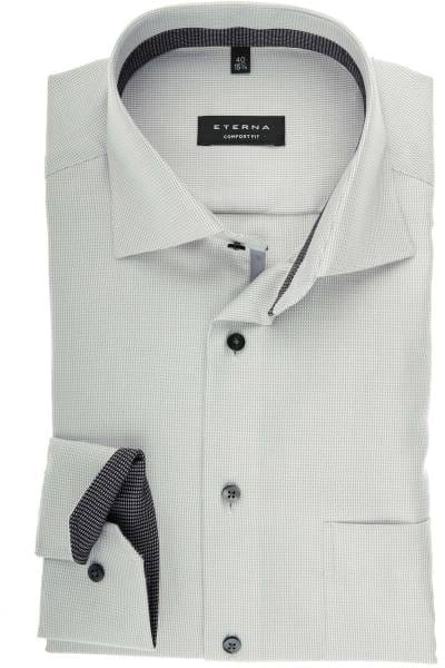 ETERNA Comfort Fit Hemd grau, Strukturiert