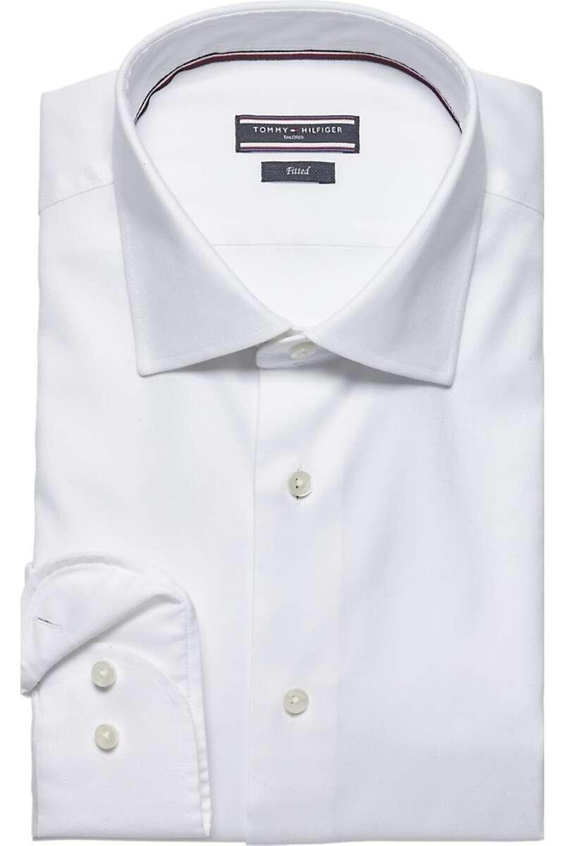 Tommy Hilfiger Tailored Slim Fit Hemd weiss, Einfarbig 40 - M