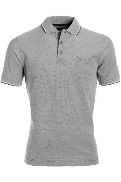 OLYMP Modern Fit Poloshirt grau, melange