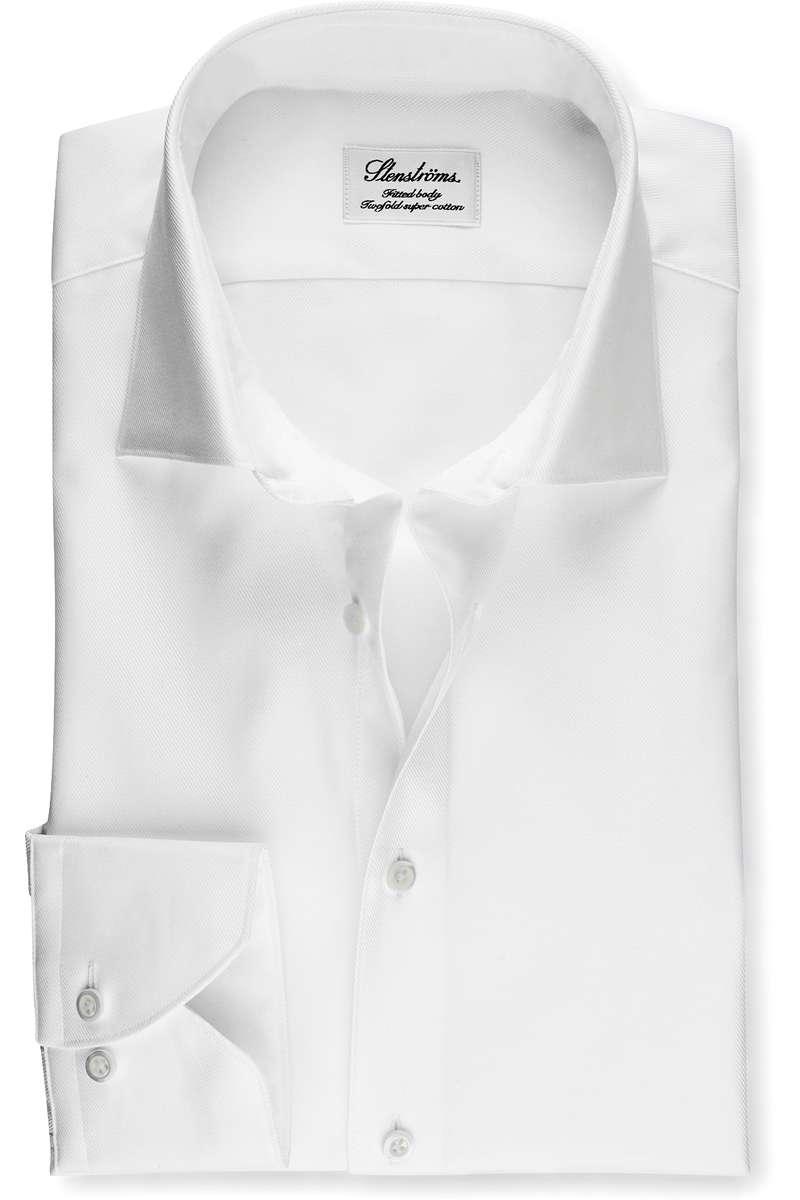 Stenströms Fitted Body Hemd weiss, Einfarbig 38 - S