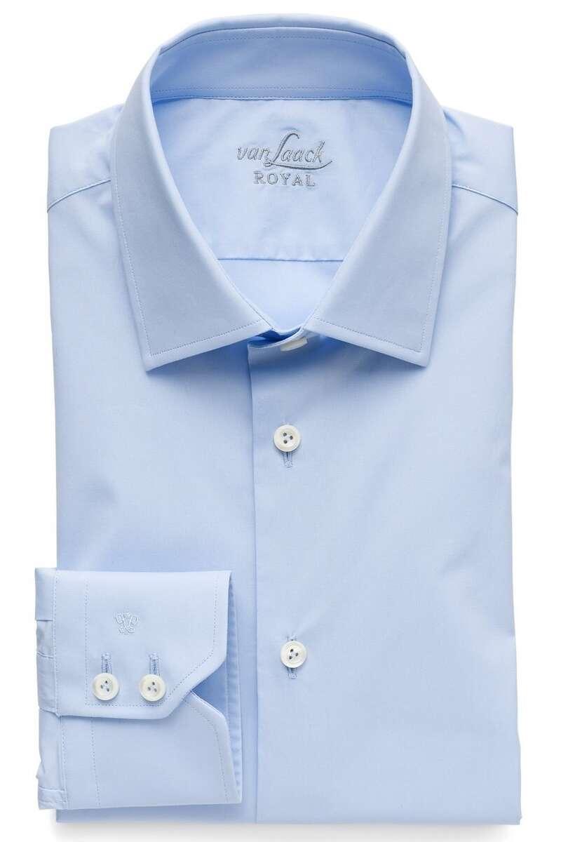 van Laack Slim Fit Hemd blau, Einfarbig 45 - XXL