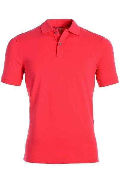 OLYMP Level Five Body Fit Poloshirt pink, Einfarbig