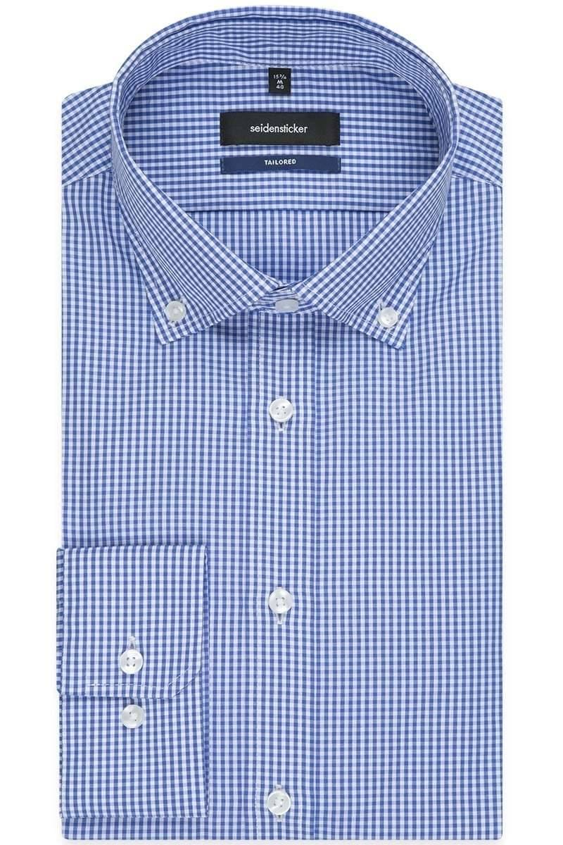 Seidensticker Hemd - Tailored - blau/weiss, Kariert