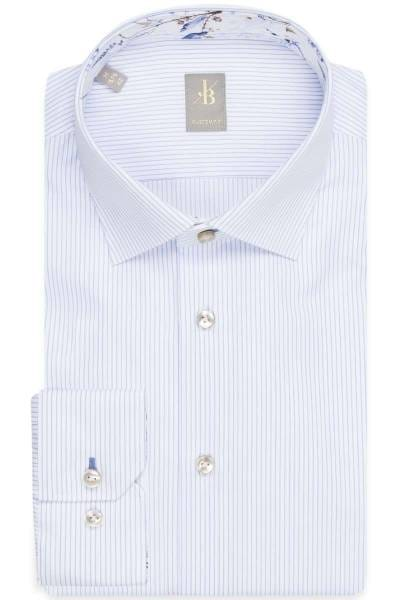 Jacques Britt Custom Fit Hemd blau/weiss, Gestreift