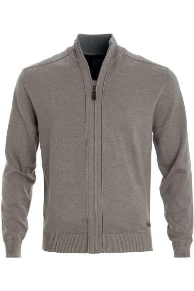 53b1334973619e Hochwertige Redmond Strickjacke mit Jacke Zip in der Farbe braun ...