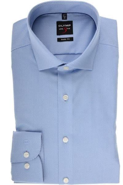 379aefd0 Hochwertiges Olymp Level Five Body Fit Hemd in der Farbe bleu/weiss ...