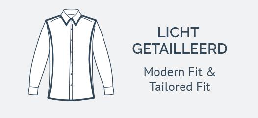 Jersey Overhemden Modern Fit