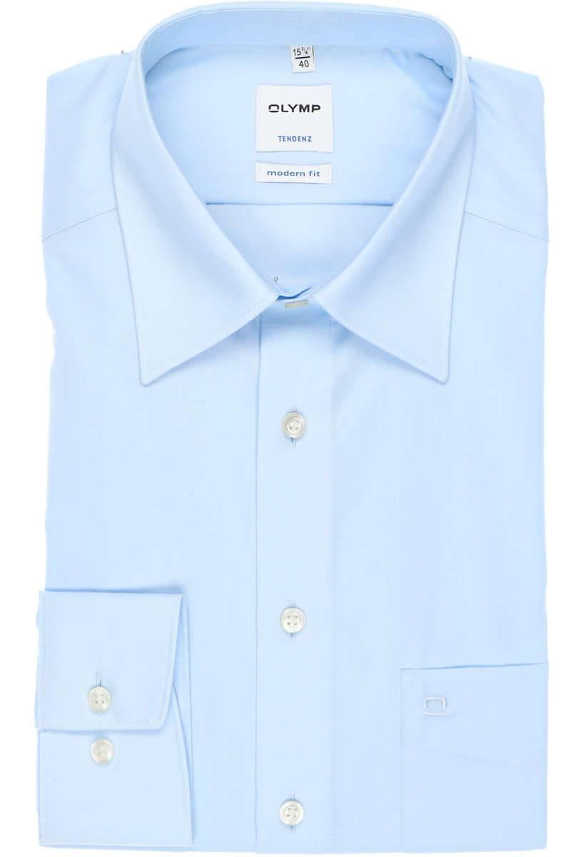 OLYMP Tendenz Modern Fit Hemd bleu, Einfarbig