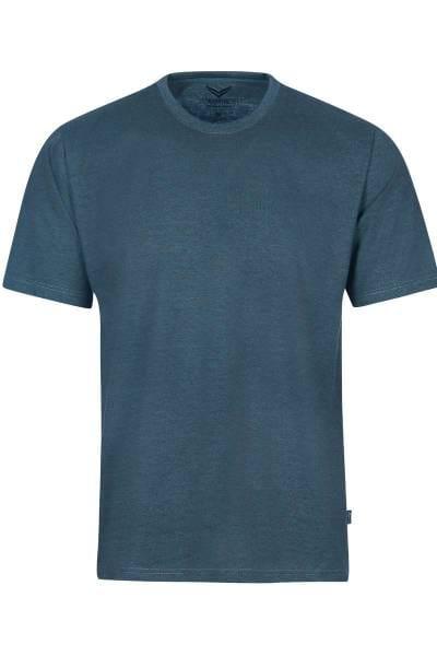TRIGEMA T-Shirt Rundhals jeans, melange