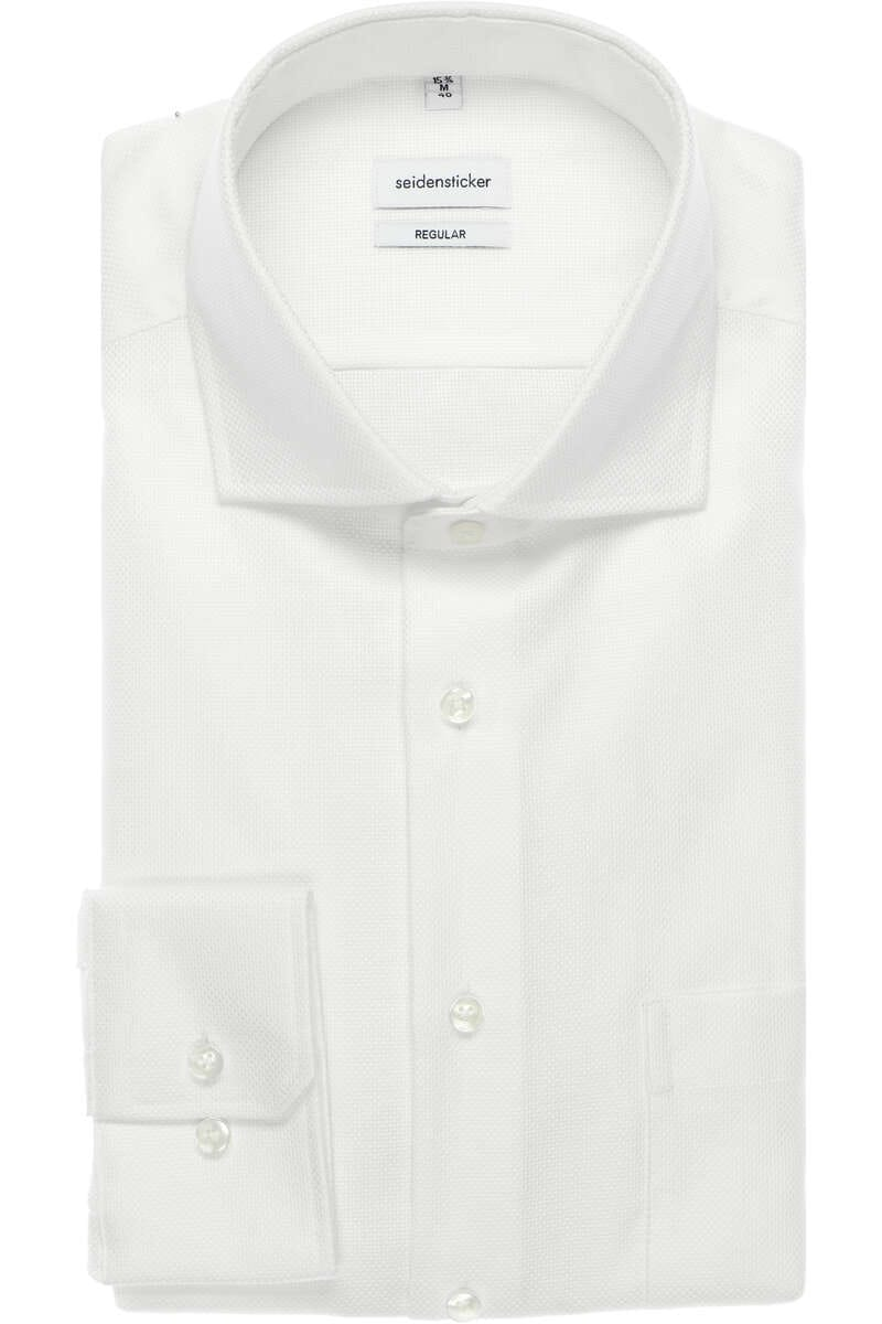 Seidensticker Regular Fit Hemd weiss, Einfarbig 42 - L