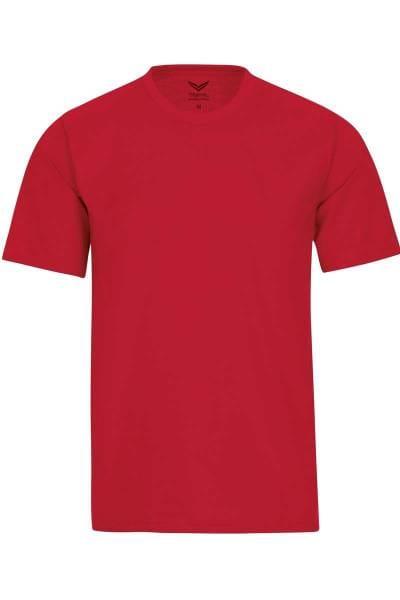 TRIGEMA T-Shirt Rundhals rot, einfarbig