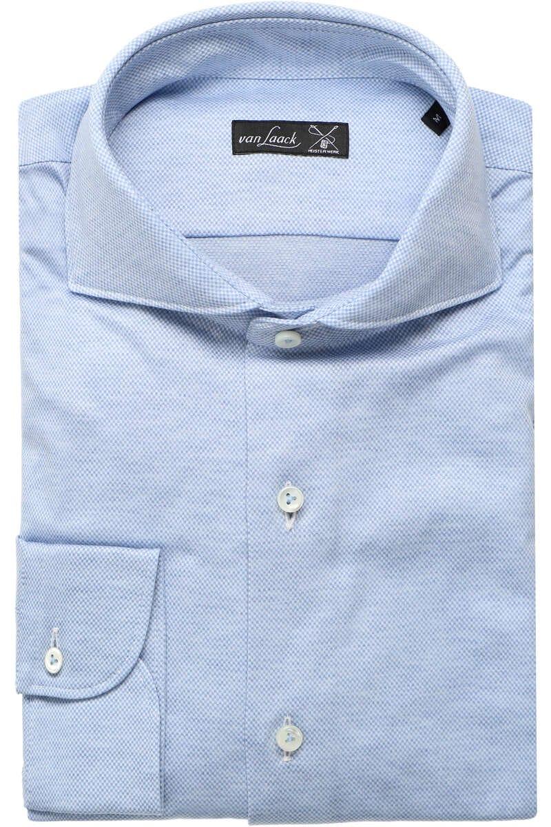 Van Laack Meisterwerk Tailor Fit Jerseyhemd sky, Gemustert M