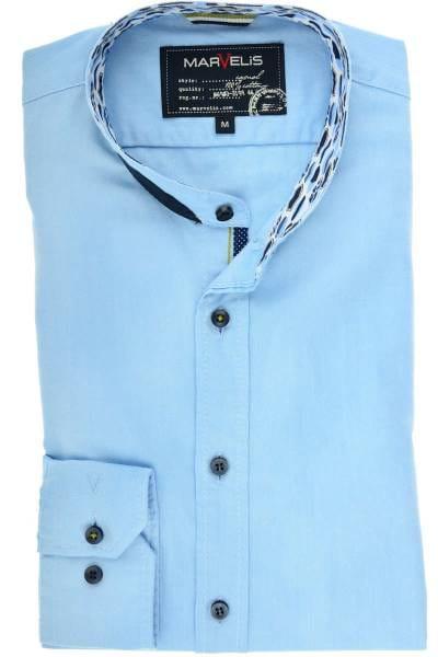 Marvelis Casual Modern Fit Hemd hellblau, Einfarbig