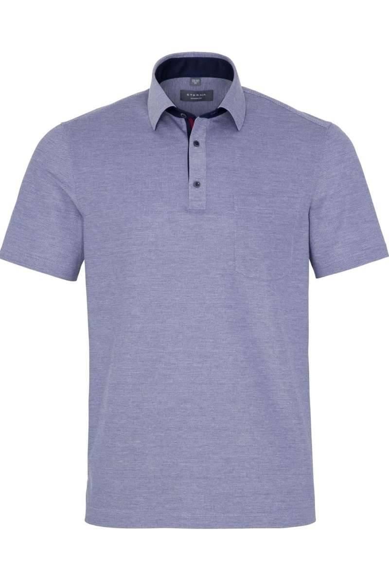 ETERNA Modern Fit Poloshirt jeansblau, Einfarbig