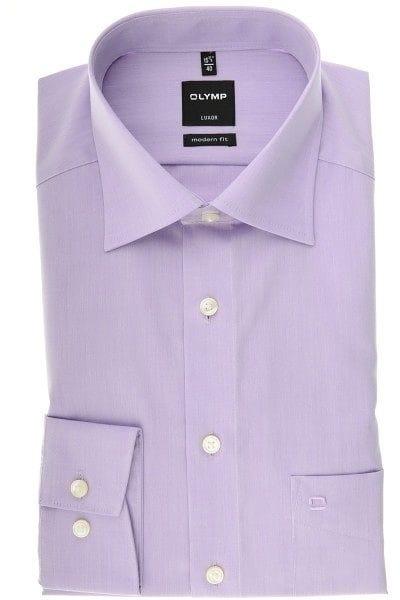 Olymp Hemd - Modern Fit - flieder, Einfarbig