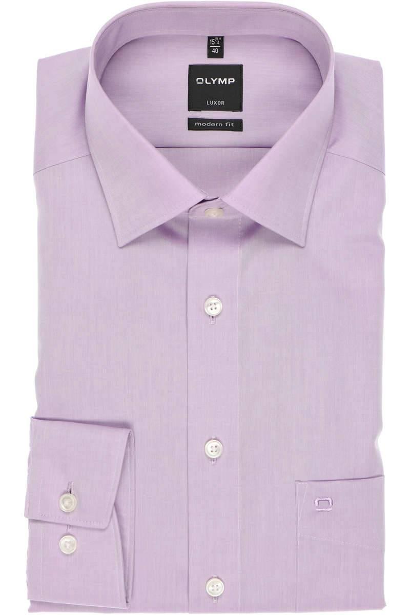 Olymp Luxor Modern Fit Hemd flieder, Einfarbig
