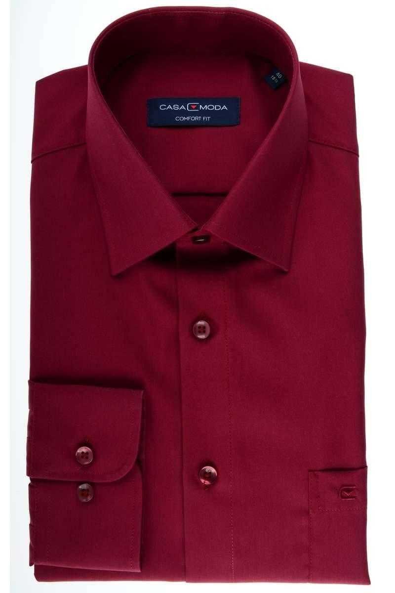 Casa Moda Comfort Fit Hemd bordeaux, Einfarbig