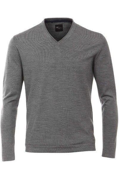 Venti Strick - V-Ausschnitt Pullover - anthrazit