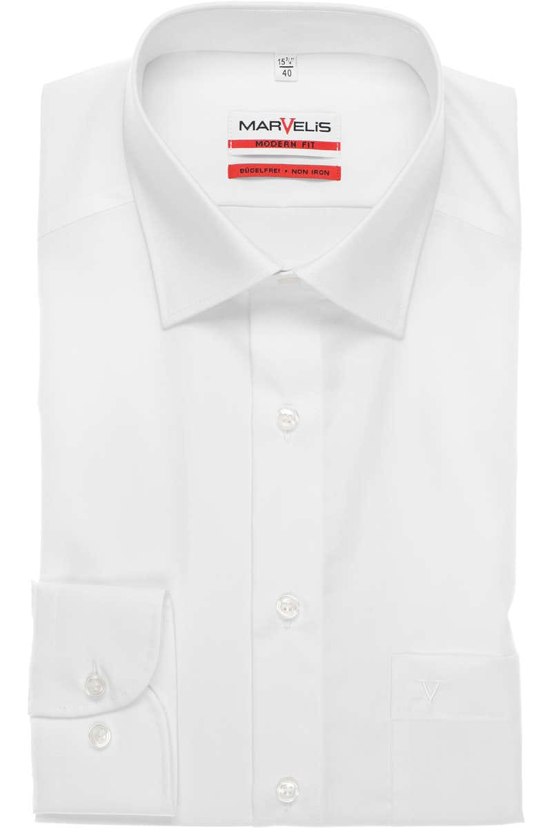 Marvelis Hemd - Modern Fit - white, One Colour 41 - L