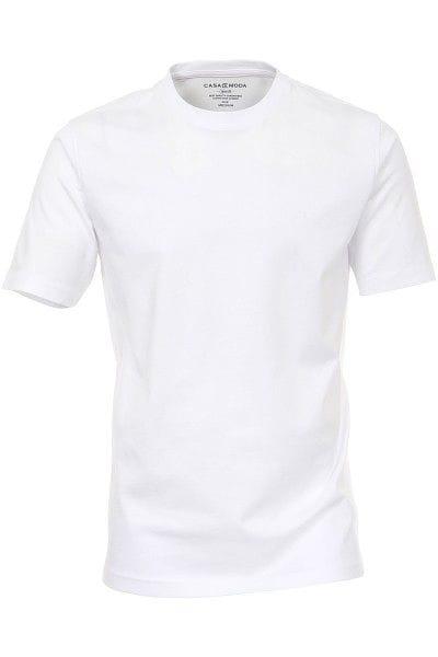 Casa Moda T-Shirt - Rundhals - weiss, Einfarbig