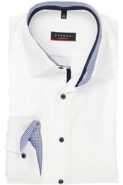ETERNA Modern Fit Hemd weiss, Einfarbig