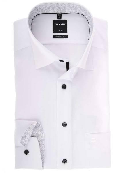 Olymp Luxor Modern Fit Hemd weiss, Einfarbig