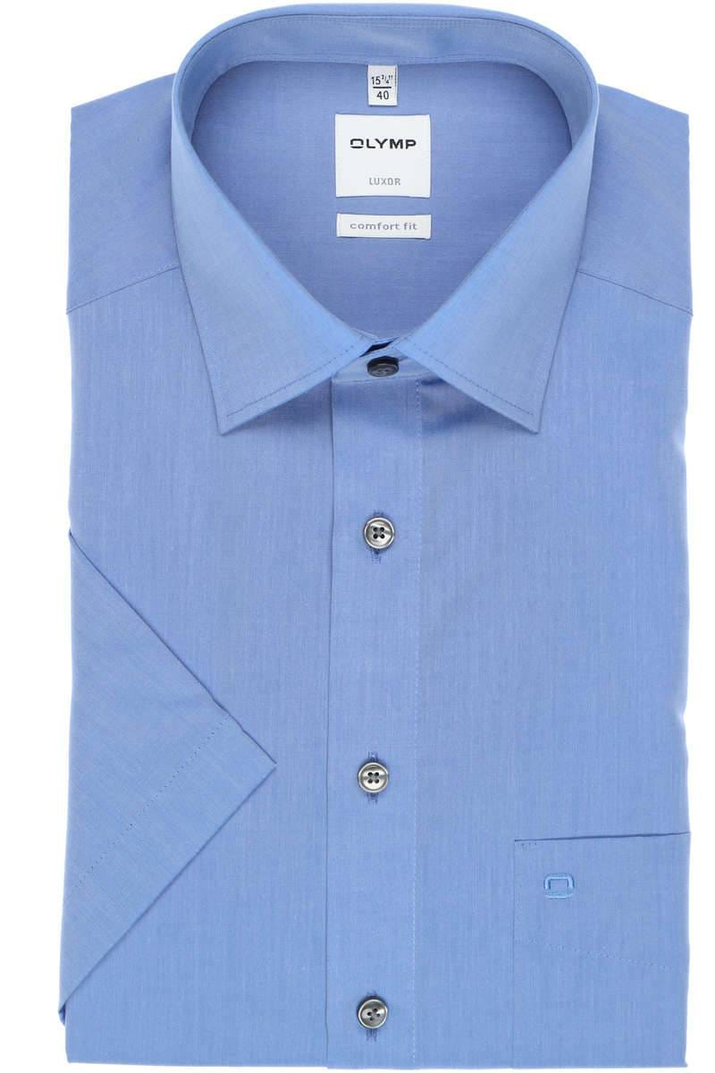 Olymp Hemd - Comfort Fit - blau, Einfarbig