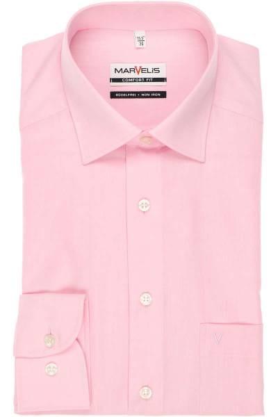 Marvelis Hemd - Comfort Fit - rosa, Einfarbig