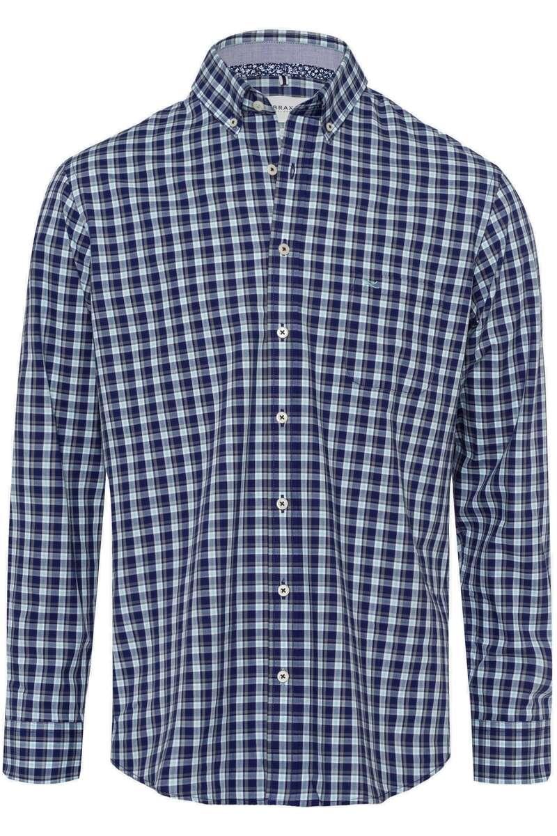 Brax Modern fit Hemd blau/grün, Kariert 3XL