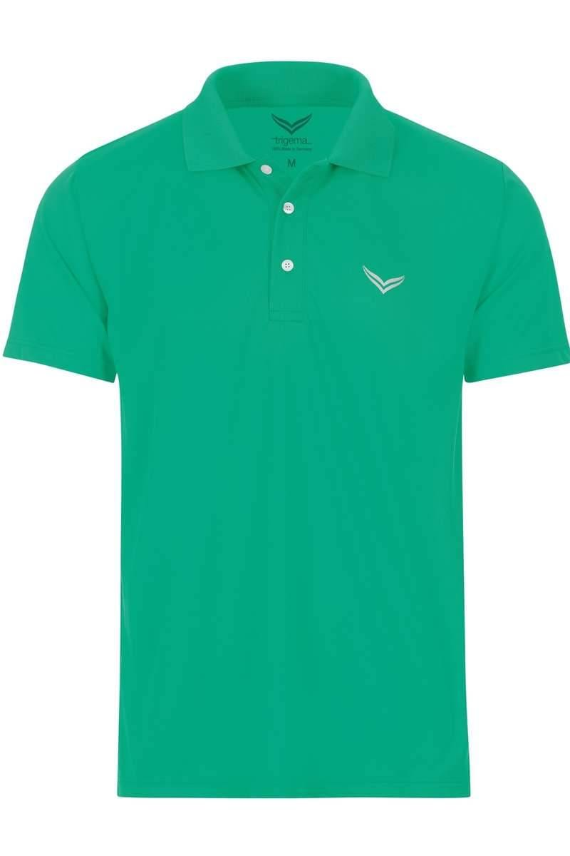 TRIGEMA COOLMAX Comfort Fit Poloshirt grün, Einfarbig