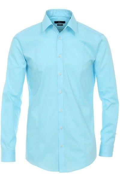 Venti Hemd - Body Fit - hellblau, Einfarbig