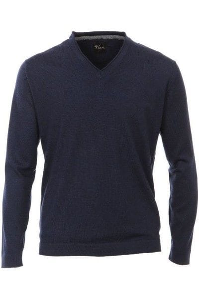 Venti Strick - V-Ausschnitt Pullover - dunkelblau