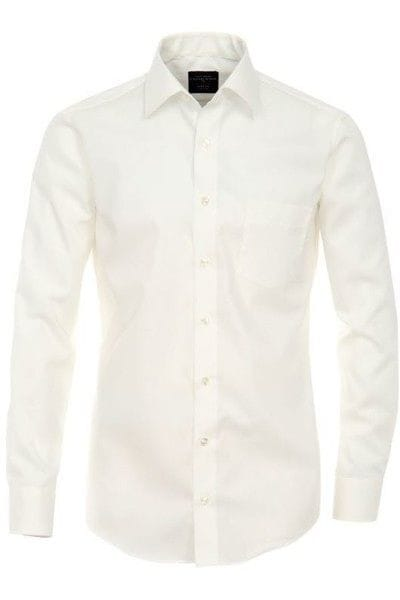Casa Moda Hemd - Modern Fit - hellbeige, Einfarbig