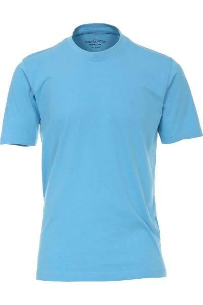 Casa Moda T-Shirt Rundhals blau, einfarbig