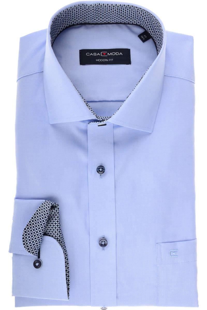 Casa Moda Modern Fit Hemd grauweiss, Strukturiert