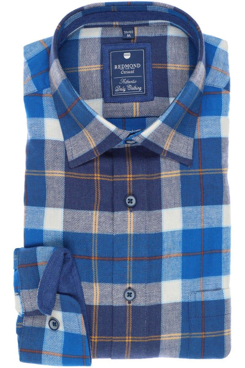 Redmond Regular Fit Hemd blau, Kariert S