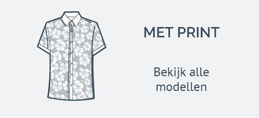 Korte Mouw Overhemden met Print