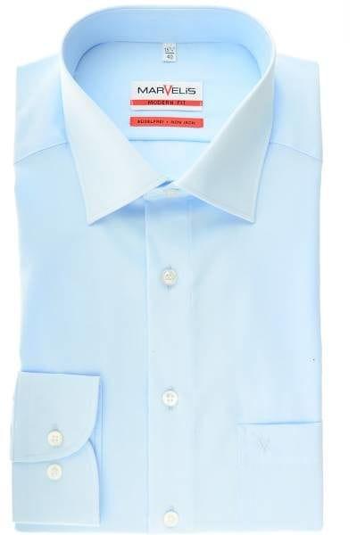 Marvelis Hemd - Modern Fit - bleu, Einfarbig