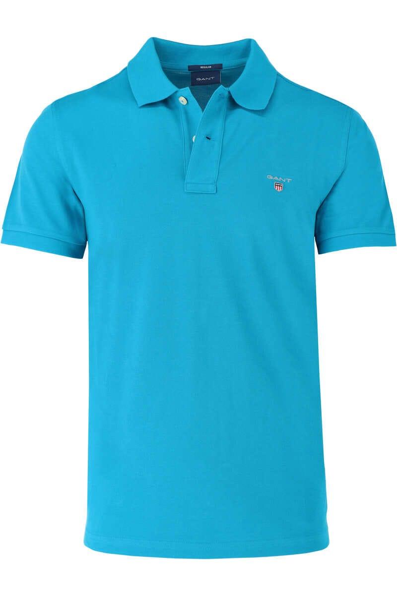 GANT Regular Fit Poloshirt petrol, Einfarbig 3XL
