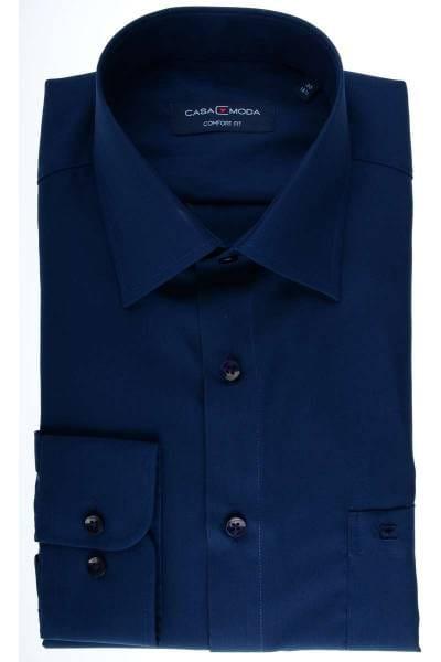 Casa Moda Comfort Fit Hemd dunkelblau, Einfarbig