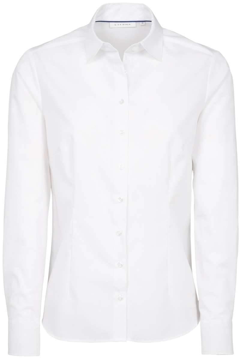 ETERNA Modern Classic Bluse weiss, Einfarbig