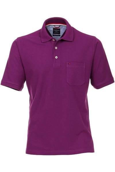 hochwertiges casa moda poloshirt in der farbe beere einfarbig das polo hemd ist pflegeleicht. Black Bedroom Furniture Sets. Home Design Ideas