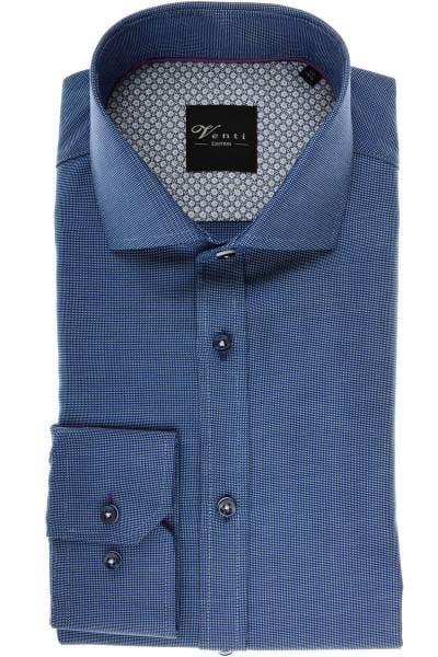 Venti Slim Fit Hemd blau/weiss, Strukturiert