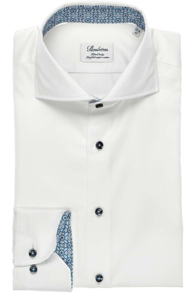 Stenströms Fitted Body Hemd weiß, Einfarbig 39 - M