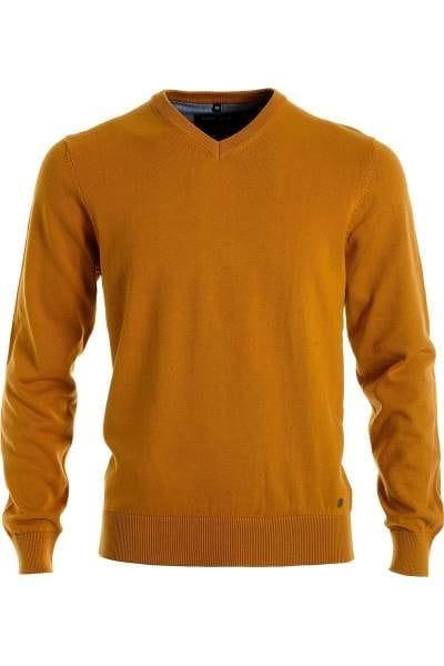 Marvelis Strick - V-Ausschnitt Pullover - gelb