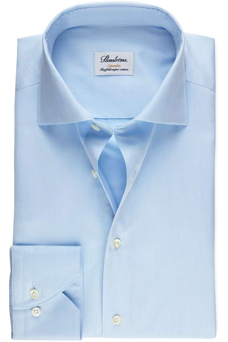 Stenströms Super Slim Hemd hellblau, Einfarbig 40 - M
