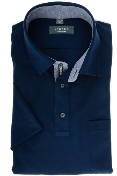 ETERNA Comfort Fit Hemd marine, Einfarbig
