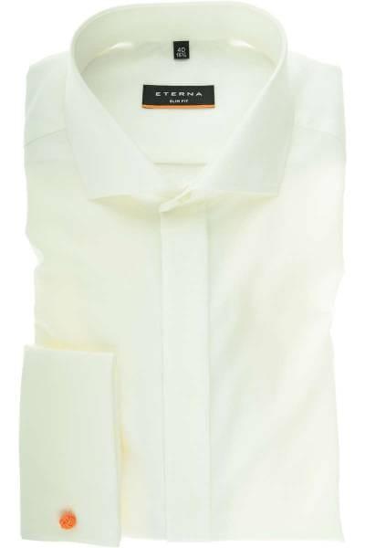 Eterna Hemd - Gala - Slim Fit - beige, Einfarbig